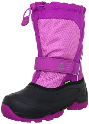 Kamik Snoday Insulated Winter Boot (Toddler/Little Kid/Big Kid), Viola, 1 M US Little Kid