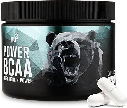 nu3 Power BCAA - 150 cápsulas - 4 g de aminoácidos en cada ración diaria - Especial para entrenamientos intensos - Correlación 2:1:1 de leucina, ...
