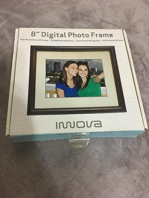 """Amazon. Com: innova 8"""" digital photo frame espresso: digital."""