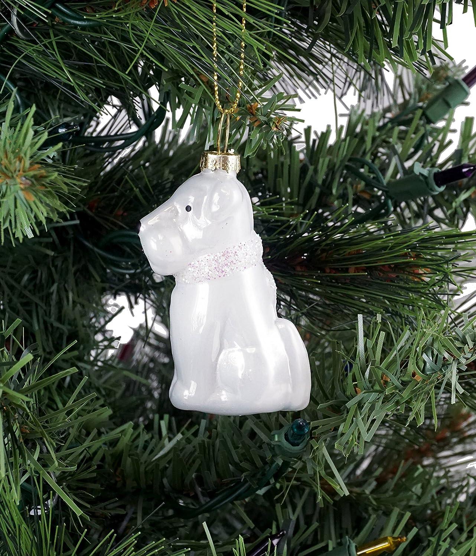 BALL HAND MADE SCOTTICH TERRIER GLASS CHRISTMAS ORNAMENT