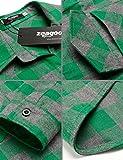 Zeagoo Womens Tartan Plaid Flannel Shirts, Roll up