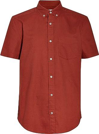 next Hombre Camisa Oxford De Manga Corta Rojo XXXXL: Amazon.es: Ropa y accesorios