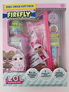 2pack 6 Firefly Kids LOL Surprise Suction Cup Toothbrushes With Cap 3 count