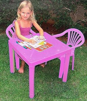 A2Z Ensemble Table et chaises pour Enfants Plastique coloré ...