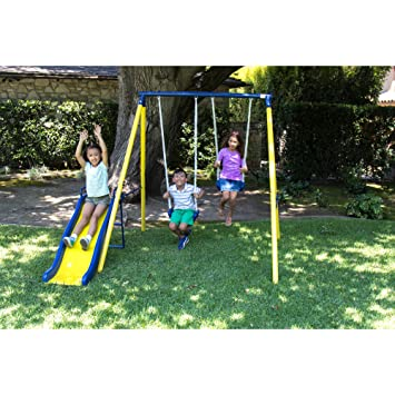 Amazon Com Sportspower Msc 4190 Power Play Time Metal Swing Set