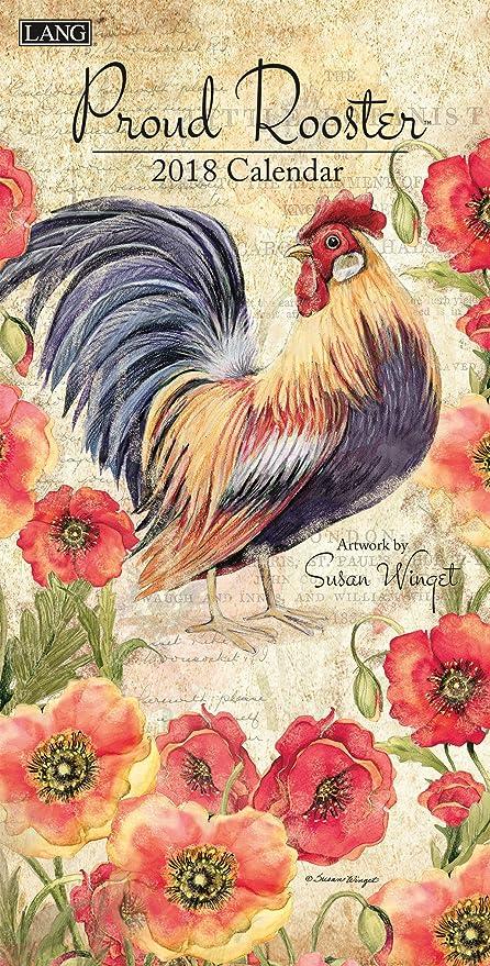 amazon com lang 2018 vertical wall calendar proud rooster