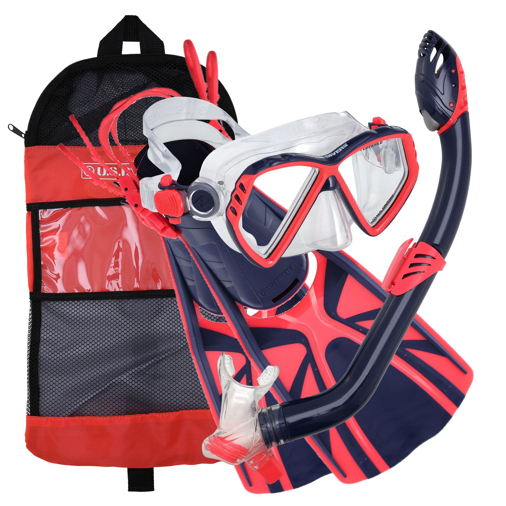 U.S. Divers Regal Jr Mask Laguna Snorkel Lava Fins Set, Large/5-8, Blue by U.S. Divers