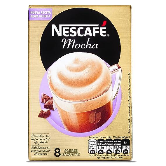 NESCAFÉ Café Mocha, Caja de sobres, 6 Paquetes de 8x18g de Café - Total: 864g: Amazon.es: Alimentación y bebidas