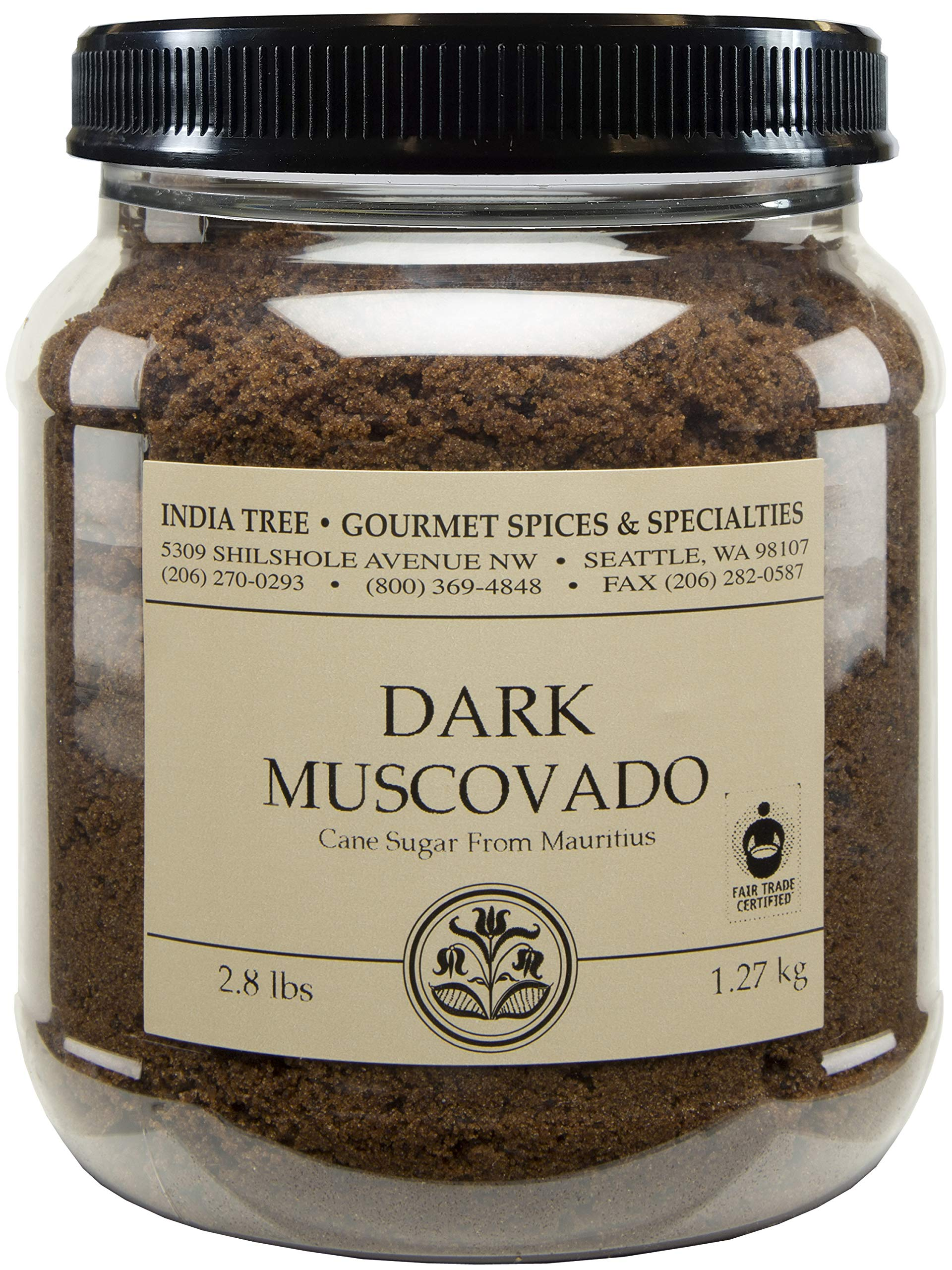 India Tree Dark Muscovado Sugar, 2.8 lb (Pack of 2) by India Tree