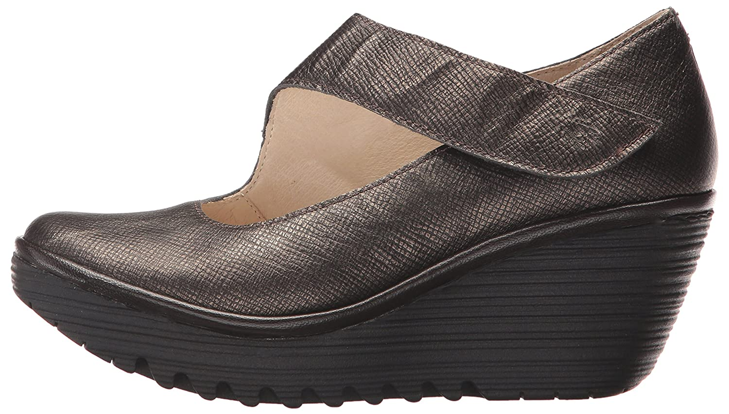 FLY London Women's Yasi682fly Wedge Pump B06WWN6G8V 41 M EU (10-10.5 US)|Bronze/Chocolate Franz/Mousse