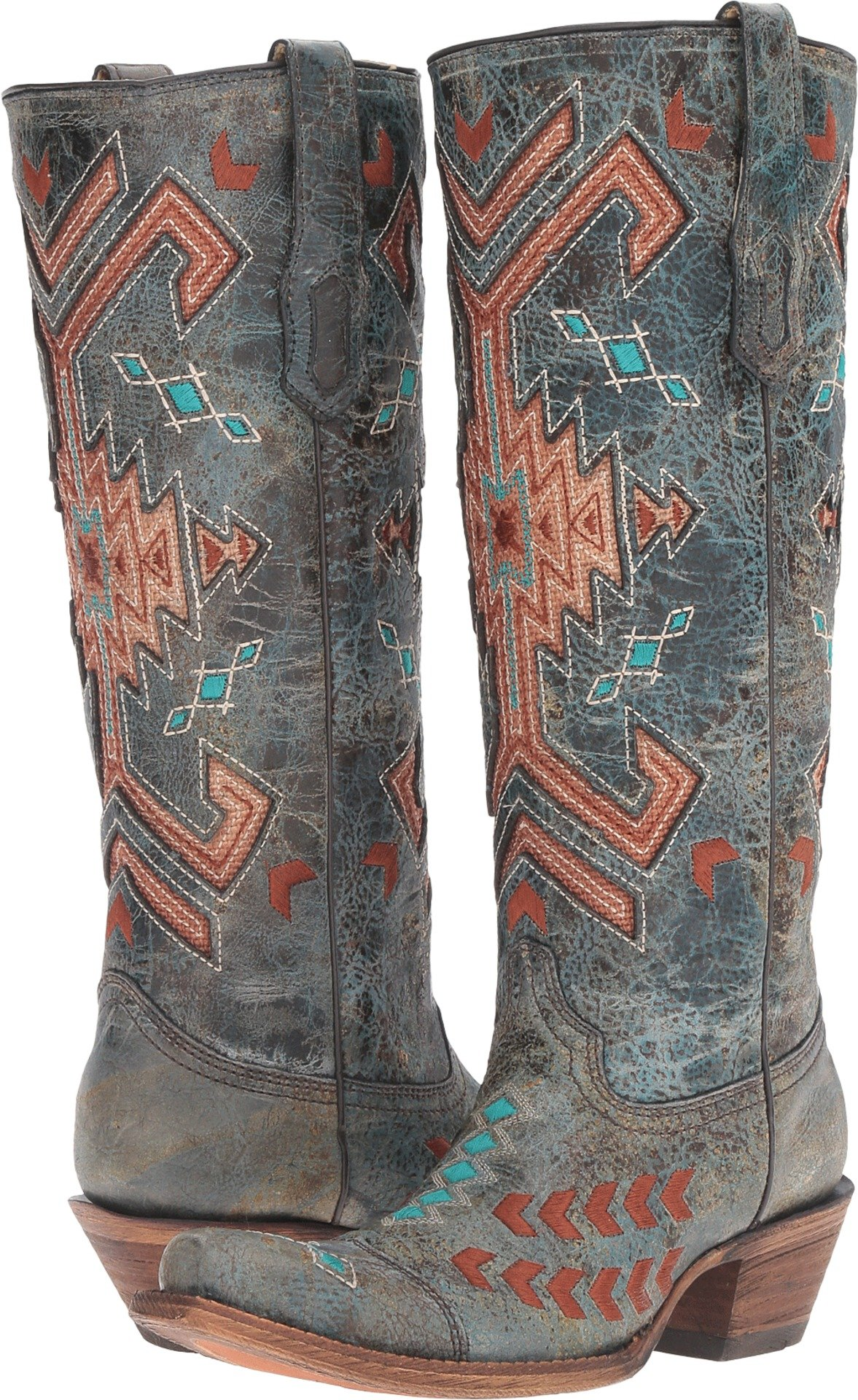 Corral Boots Women's A3164 Black/Multicolor Boot by Corral Boots (Image #1)