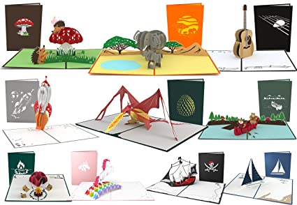 Amazon Lovepop Awesome Pop Up Card 10 Pack 3d Cards Greeting