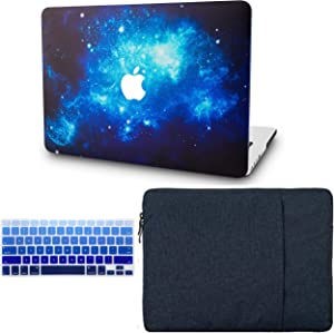 "KECC Laptop Case for MacBook Air 13"" w/Keyboard Cover + Sleeve Plastic Hard Shell Case A1466/A1369 (Blue 2)"