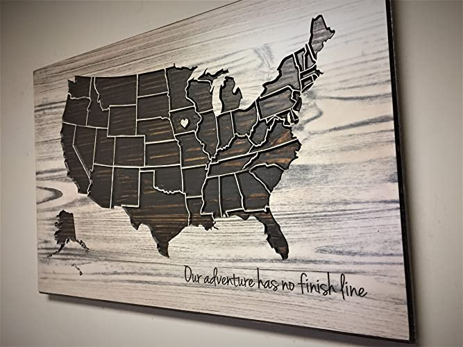 shabby chic us map decor wood wall art wooden map united states map