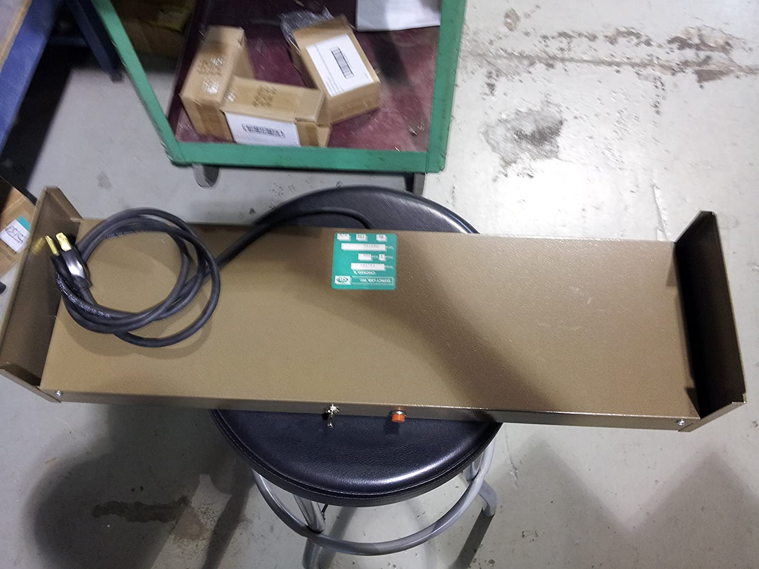 Quincy Lab 03 160 Steel Silicone Enamel Strip Heater Working Area 120v Heat Tape Wiring Further Briskheat Rubber Heating 12 Long 7 Wide 125w 115v 92 Amp Science Equipment Industrial