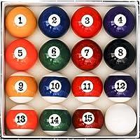 Iszy Billiards Juego de Bolas de Billar para Mesa de Billar, Estilo Art Number.