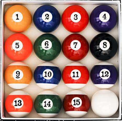 Beau Amazon.com : Pool Table Billiard Ball Set, Art Number Style : Sports U0026  Outdoors