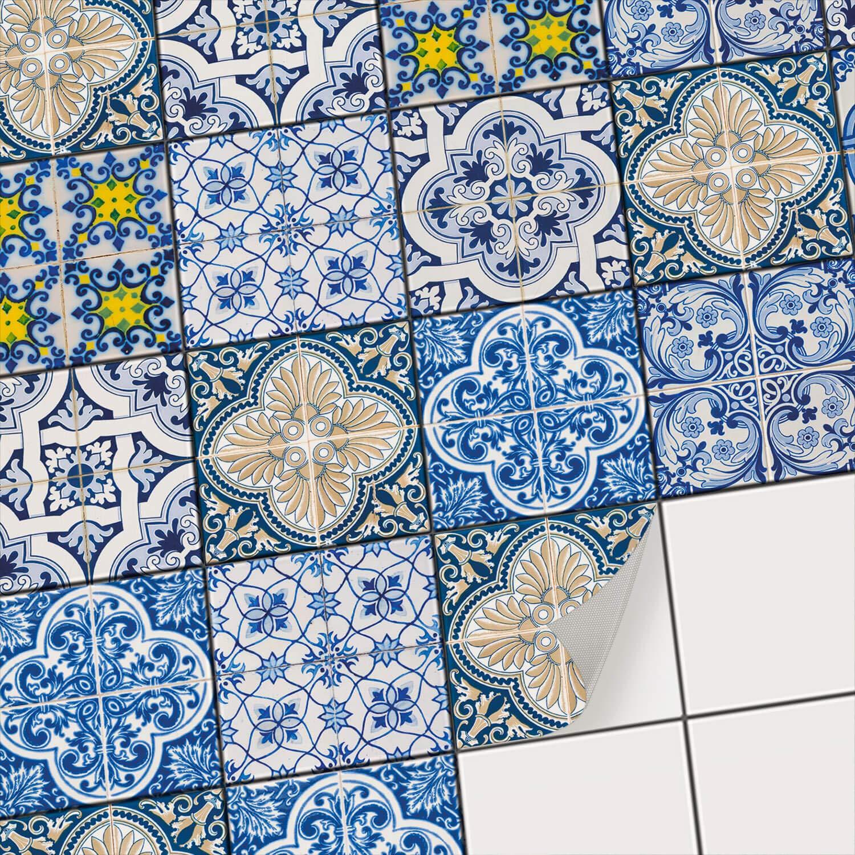 Creatisto Fliesenfolie Fliesenaufkleber Mosaikfliesen - - - Aufkleber Folie für Fliesen I Stickerfliesen - Mosaikfliesen für Küche, Bad, WC Bordüre (20x25 cm I 30 -Teilig) B072Q2LLRG Wandtattoos & Wandbilder 53dad0