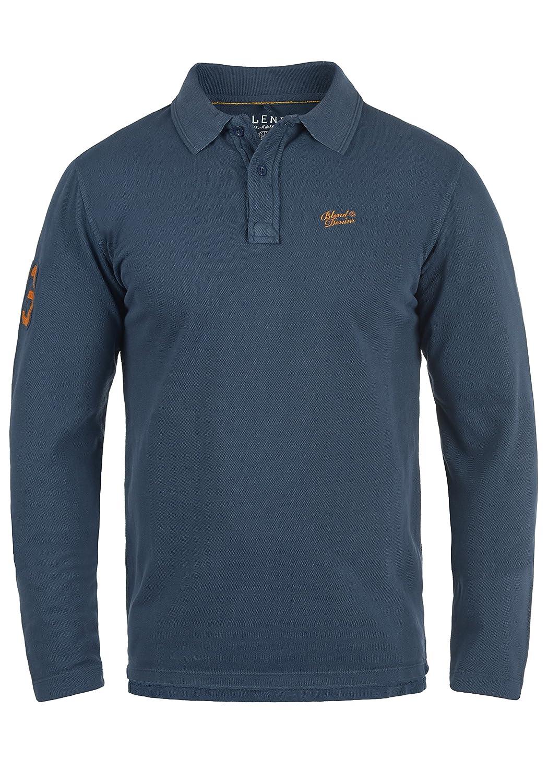 Blend Dahoud Herren Longsleeve Poloshirt Langarmshirt Shirt Mit Polokragen Polohemd Aus 100% Baumwolle