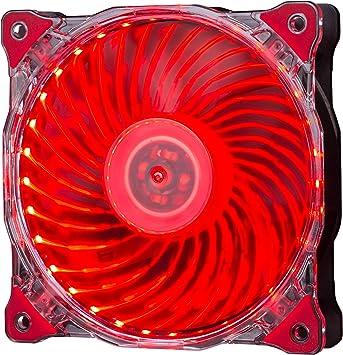 Hiditec | Ventilador Ultra Silencioso Rojo con Luz Led para PC y para Caja de Ordenador Gaming | Tamaño 120mm Materiales | Ventilación Gamer: Amazon.es: Electrónica