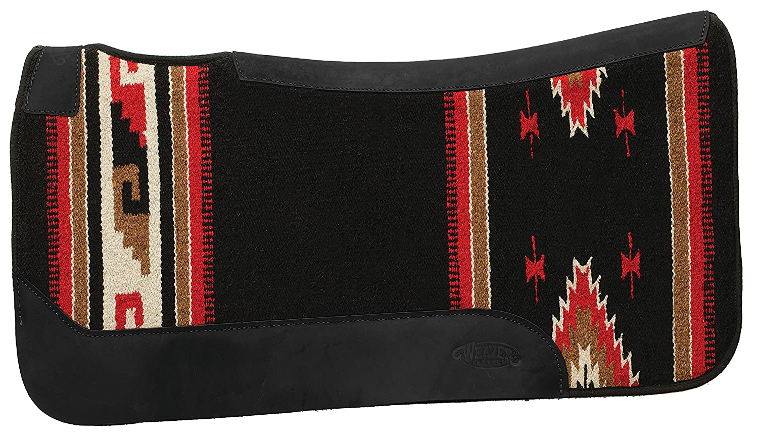 Black Pattern Weaver Leather Contoured Single Weave Felt Pad