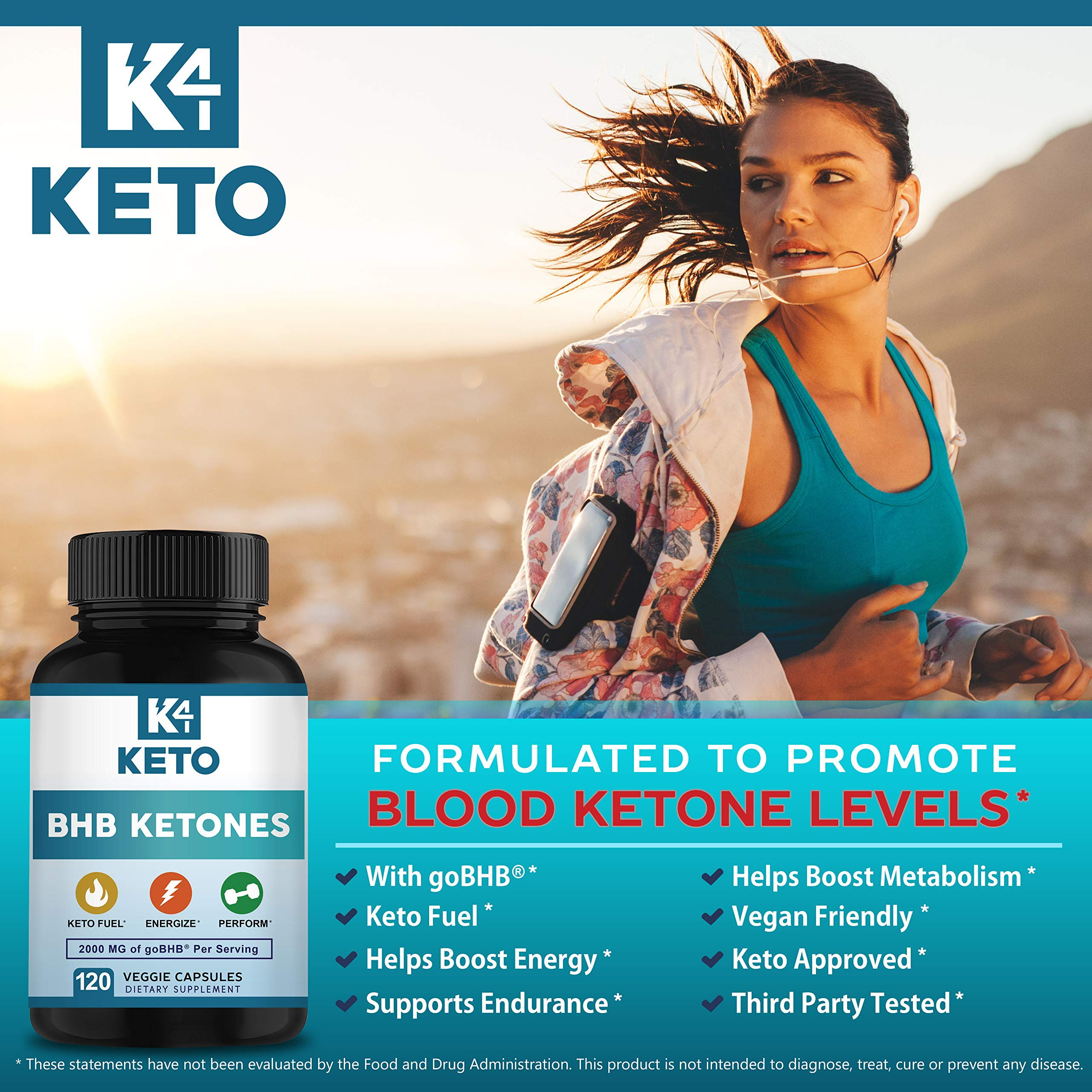 K4 Keto BHB - Exogenous Ketones BHB Salts Capsules - 2000mg of Patented goBHB Beta-Hydroxybutyrate - Ketone Supplement Pills to Support Ketogenic Diet & Ketosis by K4 Keto (Image #5)
