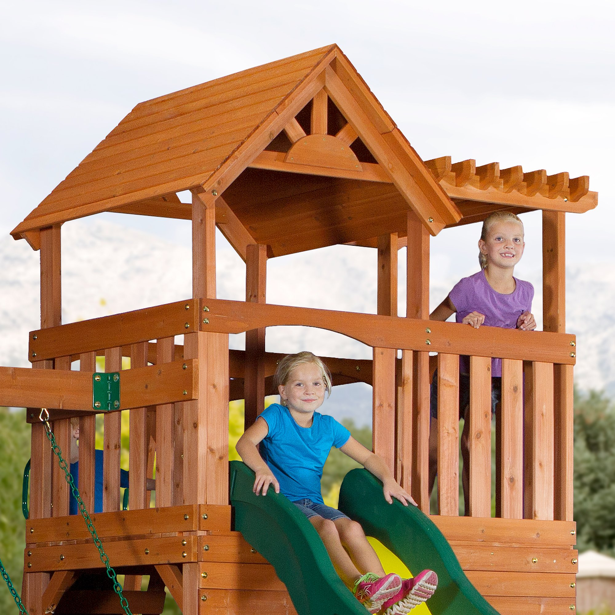 Backyard Discovery Thunder Ridge All Cedar Wood Playset Swing Set by Backyard Discovery (Image #2)