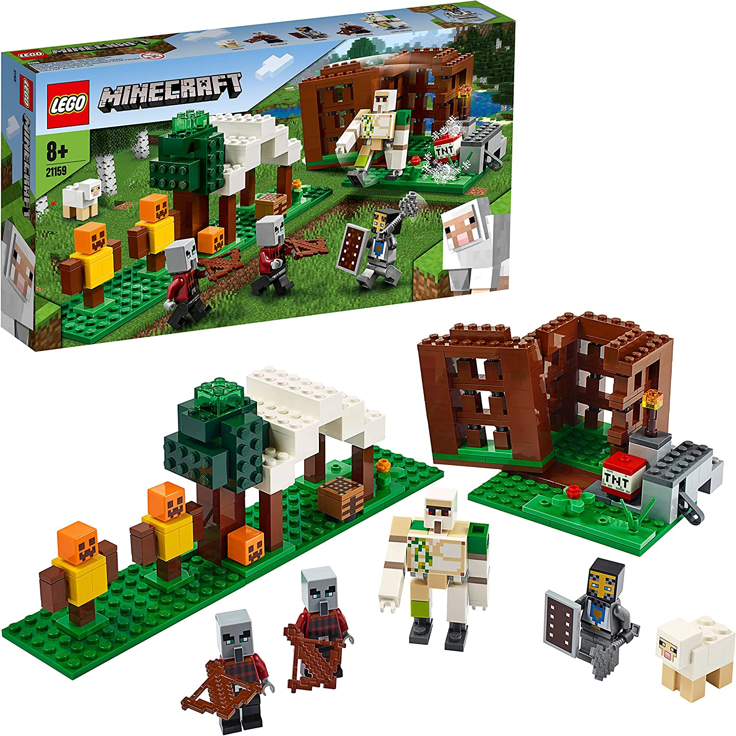 LEGO 21159 Minecraft The Pillager Outpost Action Figures Building Set 33% OFF £19.99 @ Amazon