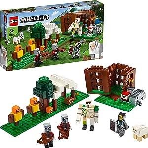 LEGO Minecraft - El Puesto de Saqueadores, Juguete de Construcción para Recrear las Aventuras del Videojuego, Recomendado a Partir de 8 Años (21159): Amazon.es: Juguetes y juegos