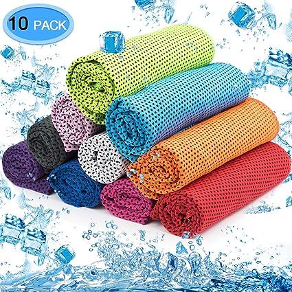 Amazon.com: MENOLY 10 unidades toalla de enfriamiento ...