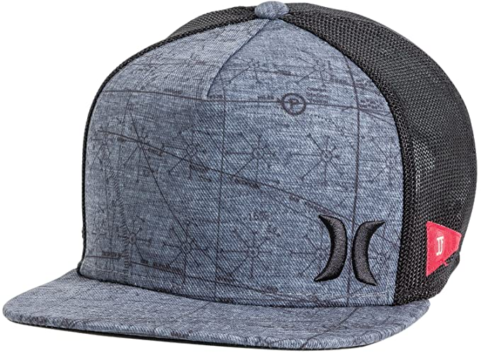 6e60538c Hurley New Men's JJF Maps Trucker Hat Polyester Black: Amazon.ca: Clothing  & Accessories