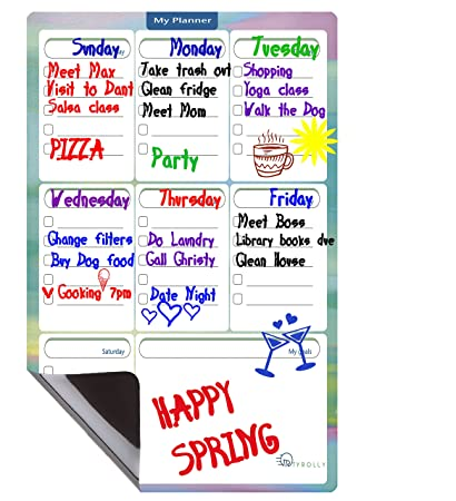 amazon com magnetic dry erase board to do list weekly planner
