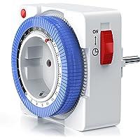 Arendo - Reloj mecánico conmutador 24 h