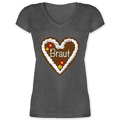 Jga Junggesellinnenabschied Lebkuchenherz Braut Damen T Shirt