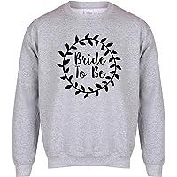 Kelham Print Bride to Be - Wreath 2 - Grey - Unisex Fit Sweater - Fun Slogan Jumper