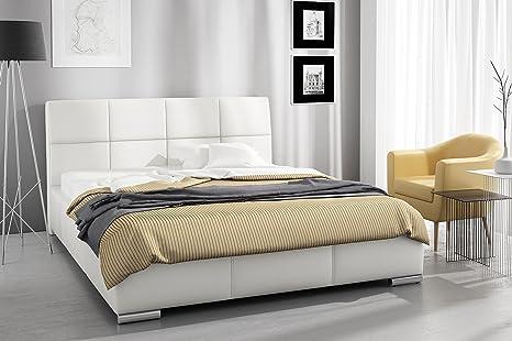 tapizada (Modelo Mona y cajón de Cama con somier 180 x 200 cm ...