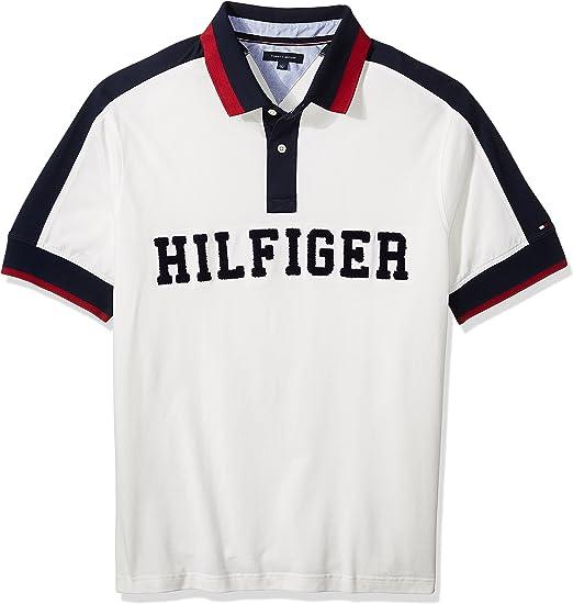 Tommy Hilfiger Hombres 78C1450 Manga Corta Camisa Polo - Blanco ...
