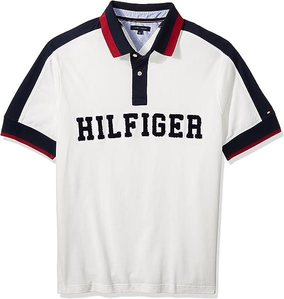 Tommy Hilfiger Hombres 78C1450 Manga corta Camisa polo - Blanco - 6X-Large grandes: Amazon.es: Ropa y accesorios