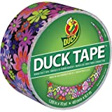 Duck Brand 283047 Printed Duct Tape, Bright Flowers, 1.88 Inches x 10 Yards, Single Roll