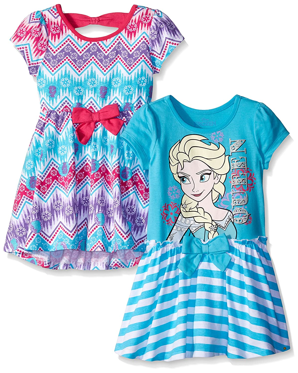Disney Girls Pack Frozen Dresses Image 1