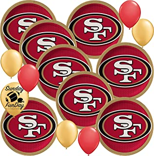 ~ Birthday Party Supplies Treat Loot 8 NFL SAN FRANCISCO 49ERS FAVOR BAGS