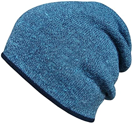 6bff647a Mens Womens Oversized Beanie Hat Winter Wooly Knitted Slouch Beanie Ski Hat  (Blue): Amazon.co.uk: Clothing