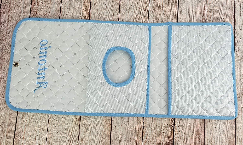 Portatoallitas + portapañales bebé de pique plastificado a elegir colores y nombre.: Amazon.es: Handmade