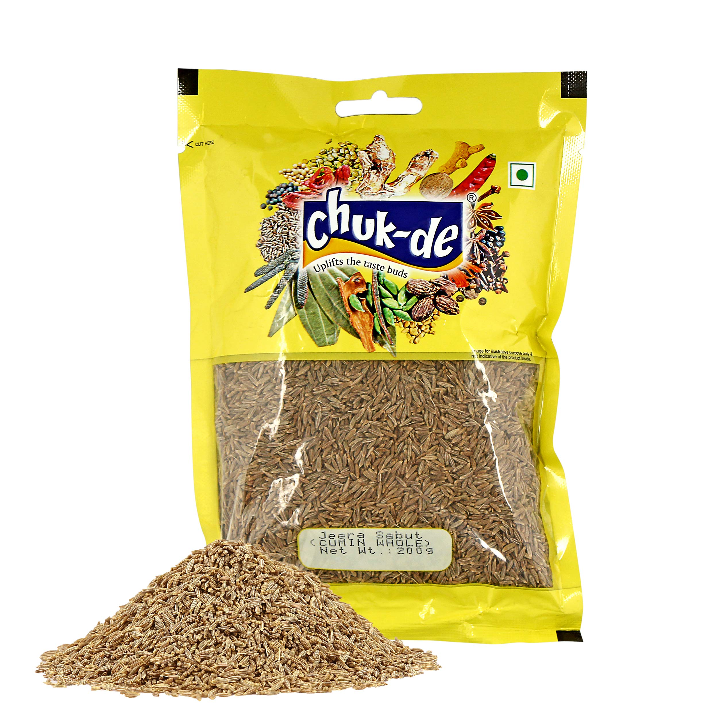 Chukde Spices Jeera Sabut/Whole (Cumin Seed) 200g
