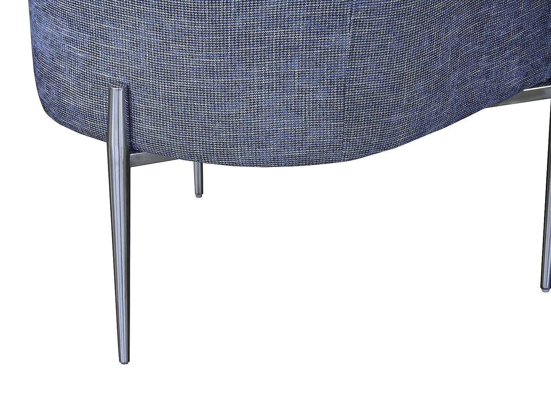 Armen Living LCJLCHBLUSLV Jolie Accent Chair Blue