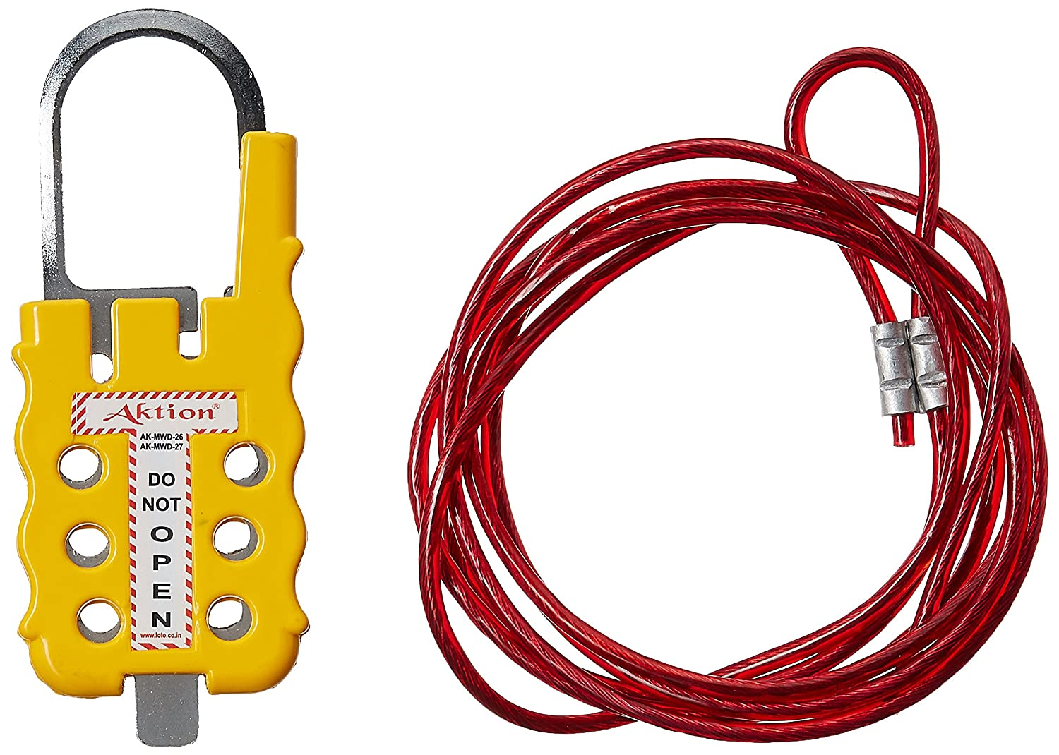 Aktion Safety Multipurpose Cable Lockout Device AK-MWD-27 Number of Holes: 6 - Yellow (Pack of 1)