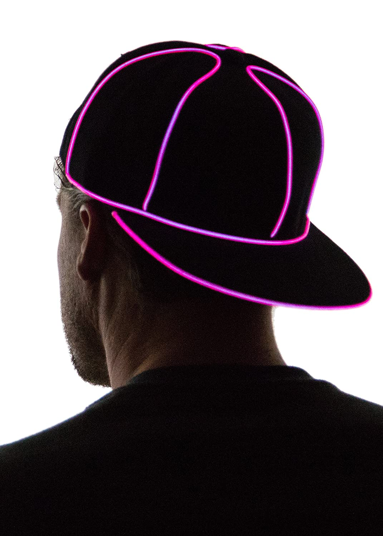 Neon Nightlife Light up Snapback Hat Blue SNAPBACK-BLUE