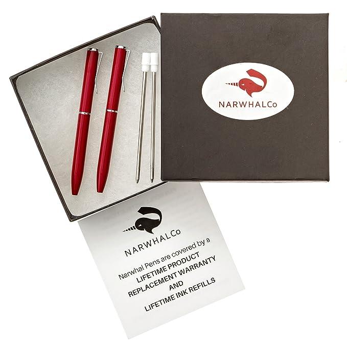 Amazon.com: narwhalco Juego de 2 rojo pequeño bolígrafos ...