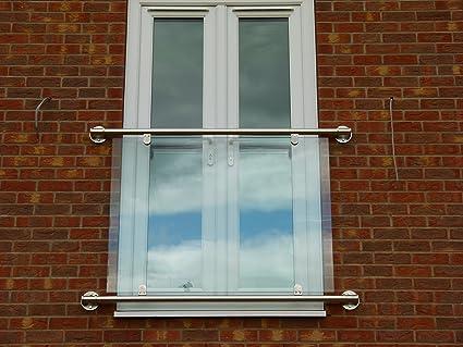 Dio Met Modern Style Stainless Steel Juliette Balcony Glass Infill