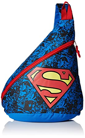 Amazon.com | Fast Forward Baby Boy's Superman Sling Backpack, Blue ...